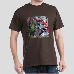 Falcon, Hulk, and Captain America Dark T-Shirt