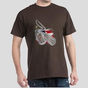 USMC Dog Tags - Dark T-Shirt