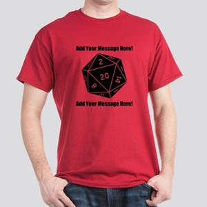 Personalized D20 Graphic Dark T-Shirt