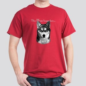 Husky Happy Face Dark T-Shirt