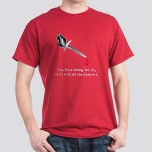 Shakespeare Lets Kill all the Lawyers Dark T-Shirt