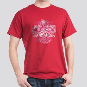 Pink Flamingo Abstract Dark T-Shirt