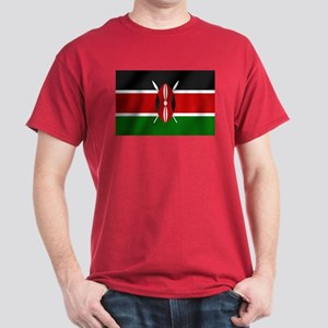 Kenya National Flag Dark T-Shirt