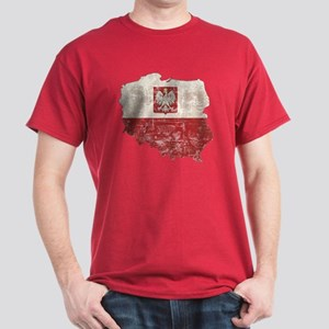 Poland Map and Flag Dark T-Shirt