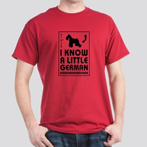 I Know a Little German- Schnauzer Red T-Shirt