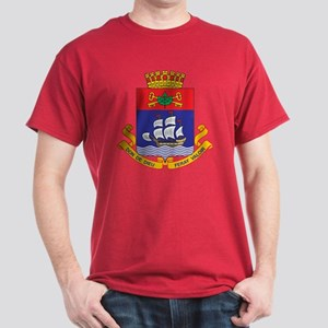 Quebec City Coat Of Arms Dark T-Shirt
