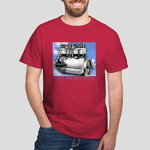 Wright Brothers Engine Dark Red T-Shirt