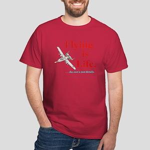 FLYING IS LIFE Dark T-Shirt