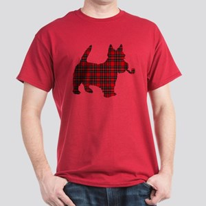 Scottish Terrier Tartan Dark T-Shirt