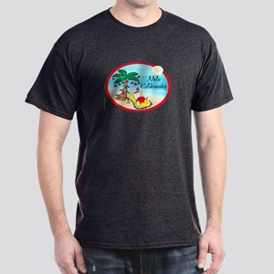 Hawaiian Christmas Lazy Santa Dark T-Shirt