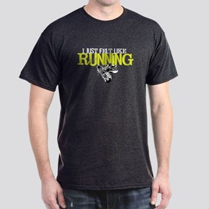 Felt Like Running Black T-Shirt