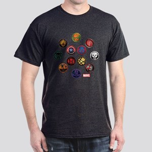 Marvel Grunge Icons Dark T-Shirt
