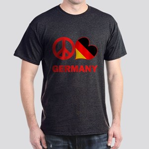 Peace Love Germany Dark T-Shirt