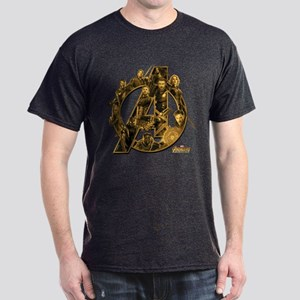 Avengers Infinity War Gold Dark T-Shirt