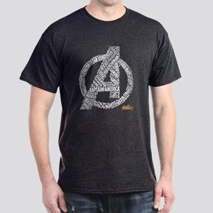 Avengers Infinity War Names Dark T-Shirt
