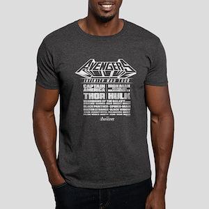 Avengers Infinity War Lineup Dark T-Shirt