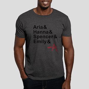 Aria & Hanna & Spencer & Emily & A Dark T-Shirt