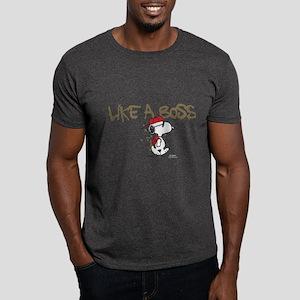 Peanuts Snoopy Like A Boss Dark T-Shirt