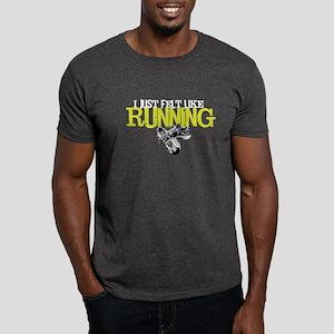 Felt Like Running Black T-Shirt