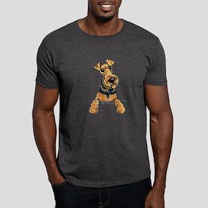 Welsh Terrier Paws Up Dark T-Shirt
