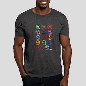 Marvel Icon Favorites Splatter Dark T-Shirt