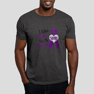 I Wear Purple 18 Alzheimers Dark T-Shirt