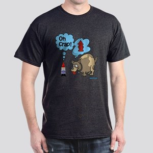 Gnome Visited by the Dog Dark T-Shirt
