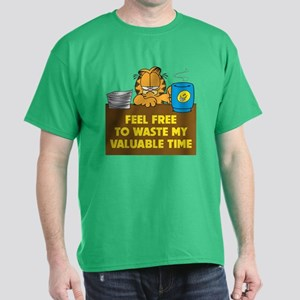 Waste My Valuable Time Men's T Dark T-Shirt