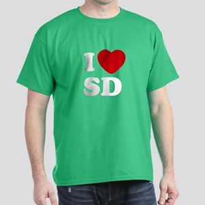 I Love San Diego Dark Colored T-Shirt