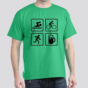 Swim Bike Run Drink Dark T-Shirt