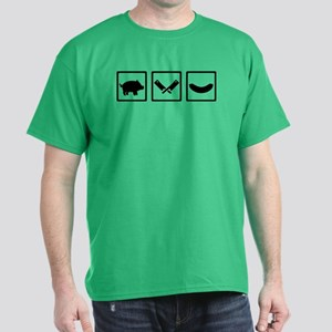 Butcher pig cleaver sausage Dark T-Shirt