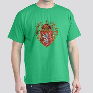 Bohemian King Coat of Arms (Front) Dark T-Shirt