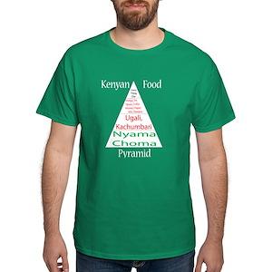 Kenyan Food Pyramid Dark T-Shirt