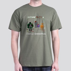 Nothin' Butt A Poodle Xmas Dark T-Shirt
