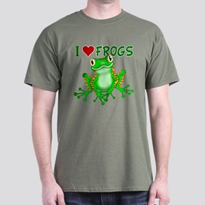 I Love (Heart) Frogs Dark T-Shirt