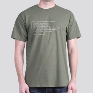 Heraclitus Quote Green T-Shirt