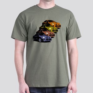 Colorized Neon SRT-4's Dark T-Shirt