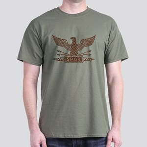 Distressed Roman Eagle Dark Dark T-Shirt