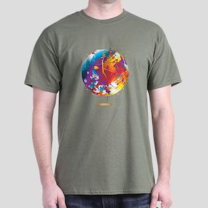 Paint Splatter World Map T-Shirts - CafePress
