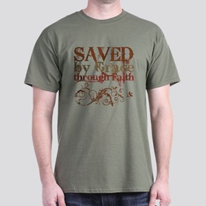 Saved by Grace Dark T-Shirt