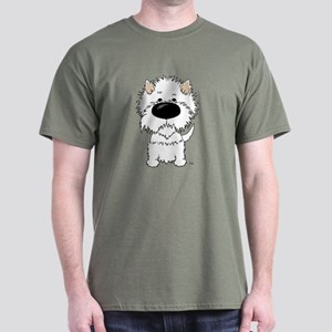 Big Nose Westie Dark T-Shirt
