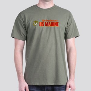 My Grandson Marine Dark T-Shirt