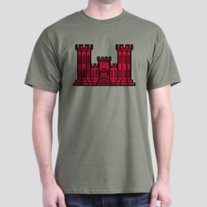 Engineer Branch Insignia - Red Dark T-Shirt