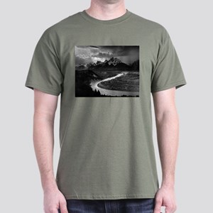 Ansel Adams The Tetons and the Snake River Dark T-