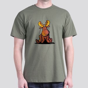 0a59d0d8a5 KiniArt Moose Dark T-Shirt