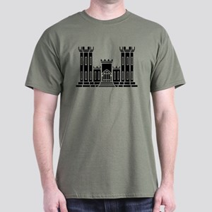Engineer Branch Insignia - B-W Dark T-Shirt