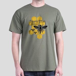 Honeycomb Save The Bees Dark T-Shirt