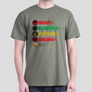 Marvel Dad Personalized Dark T-Shirt