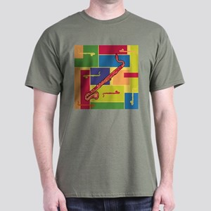 Bass Clarinet Colorblocks Dark T-Shirt