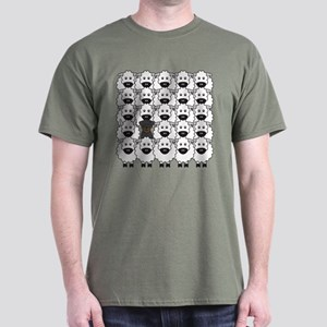 Beauceron and Sheep Dark T-Shirt